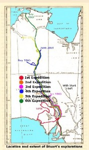 Route of all Stuart expeditions